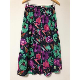 スカラー(ScoLar)のScoLar❤️マエボタン花柄スカート(ひざ丈スカート)