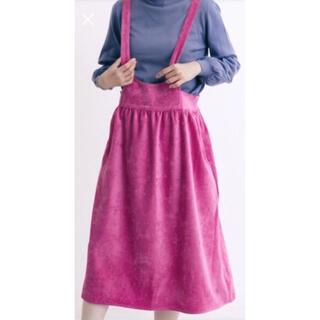 メルロー(merlot)のメルロー スエード調リボンジャンパースカート(ひざ丈ワンピース)