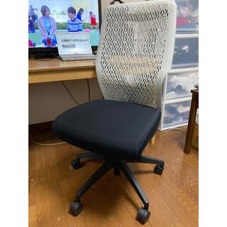 【引取希望】オカムラ オフィスチェア ビラージュ デスクチェア 肘なし ブラック(オフィスチェア)