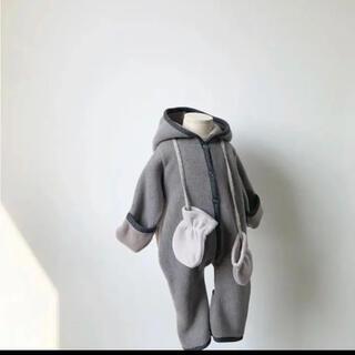 キャラメルベビー&チャイルド(Caramel baby&child )のmonbebe ロンパース カバーオール!週末値下げ(ジャケット/コート)