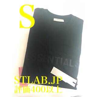 フィアオブゴッド(FEAR OF GOD)の黒 S  FOG Fear Of God Essentials T-Shirt(Tシャツ/カットソー(半袖/袖なし))