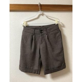 ムジルシリョウヒン(MUJI (無印良品))の無印良品 無印 ショート パンツ 茶色 ウール チェック ボトムス(ショートパンツ)