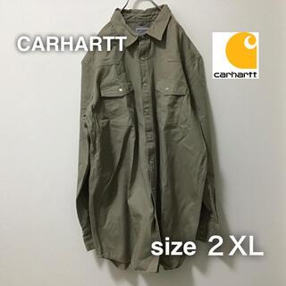 カーハート(carhartt)のCARHARTT カーハート ワークジャケット カバーオール 2XL ベージュ(カバーオール)