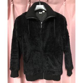 ロキシー(Roxy)のロキシー ROXY  ジャケット 黒 モコモコ Sサイズ(ブルゾン)