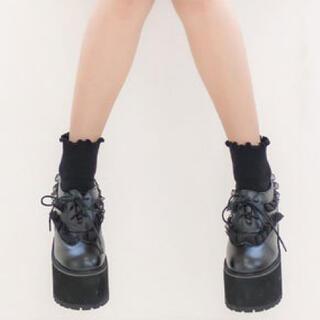 ロジータ(ROJITA)のROJITA  フリル 厚底 シューズ(ローファー/革靴)