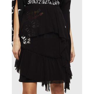 ディーゼル(DIESEL)のDIESEL  2020SS  アシメシフォンミニスカート Mサイズ(ミニスカート)