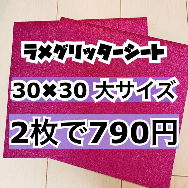 ジャニーズJr.(ジャニーズジュニア)のうちわ用 規定外 対応サイズ ラメ グリッター シート ピンク 2枚 エンタメ/ホビーのタレントグッズ(アイドルグッズ)の商品写真