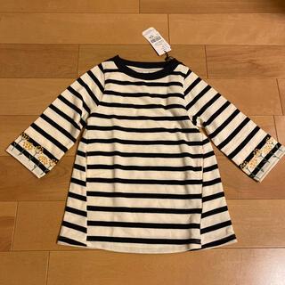 グラニフ(Design Tshirts Store graniph)のグラニフ ボーダーワンピース 90センチ 未使用(ワンピース)