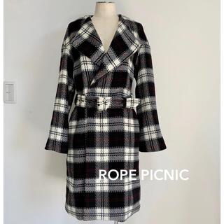 ロペピクニック(Rope' Picnic)の【新品】ROPE PICNIC タータンチェックコート(ロングコート)