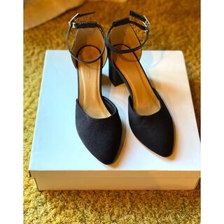 グローバルワーク(GLOBAL WORK)の#グローバルワーク #靴 #パンプス #サンダル #美品 #ブラック #黒 (ハイヒール/パンプス)