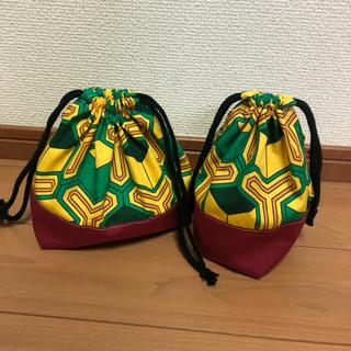 冨岡義勇 和柄 お弁当袋 小物袋(外出用品)