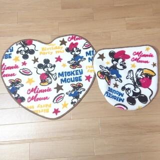 ディズニー(Disney)のディズニー フタカバー トイレカバー トイレマット ミッキー ミニー ミキミニ (トイレマット)