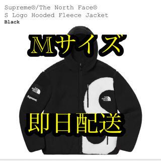 シュプリーム(Supreme)のTHE North Face S Logo Hooded Fleece 黒 M(マウンテンパーカー)