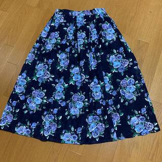 バーバリーブルーレーベル(BURBERRY BLUE LABEL)のブルーレーベルクレストブリッジ 花柄スカート 38(ロングスカート)
