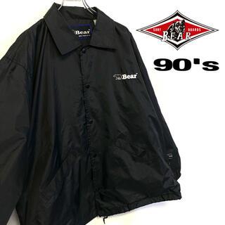 ベアー(Bear USA)の90's 古着 Bear USA ナイロンコーチジャケット メンズM ブラック(ナイロンジャケット)