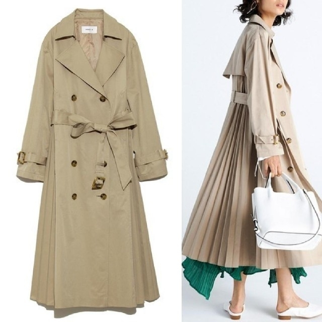 FRAY I.D(フレイアイディー)のFRAY♡サイド プリーツ トレンチ コート レディースのジャケット/アウター(トレンチコート)の商品写真
