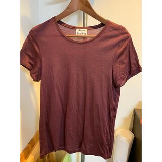 アクネ(ACNE)のAcne Studios Tシャツ バーガンディ standard o XXS(Tシャツ/カットソー(半袖/袖なし))