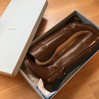 オゥバニスター(AU BANNISTER)の【新品未使用】オゥバニスター サイドジップロングブーツ(ブーツ)