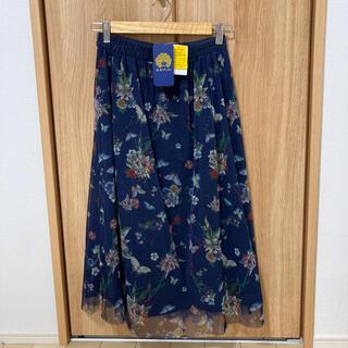 スカラー(ScoLar)のイズスカラー チュール花柄スカート(ロングスカート)