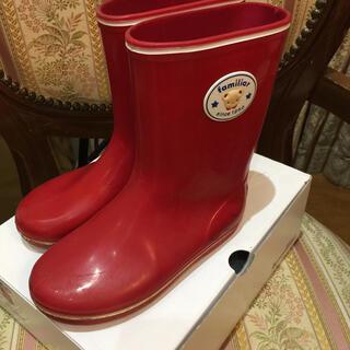 ファミリア(familiar)のfamiliar長靴 18㎝(長靴/レインシューズ)