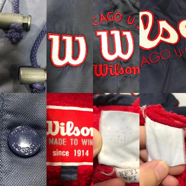 wilson(ウィルソン)のWilson ウィルソン ベンチコート ナイロンジャケット スポーツ ビッグロゴ メンズのジャケット/アウター(ナイロンジャケット)の商品写真