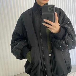 アメリヴィンテージ(Ameri VINTAGE)の完売品 ブラック 新品未使用タグ付き MA1(ダウンジャケット)
