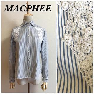 マカフィー(MACPHEE)のMACPHEE クロッシェレース装飾ブラウス(シャツ/ブラウス(長袖/七分))