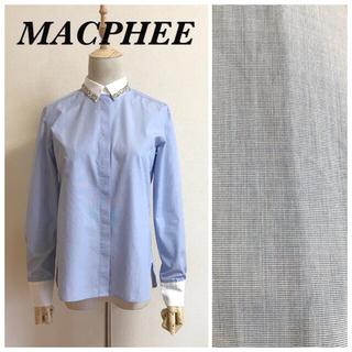 マカフィー(MACPHEE)のMACPHEE ビジュークレリックブラウス(シャツ/ブラウス(長袖/七分))