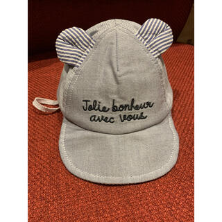 ベベ(BeBe)のくま耳付きのキャップ(帽子)