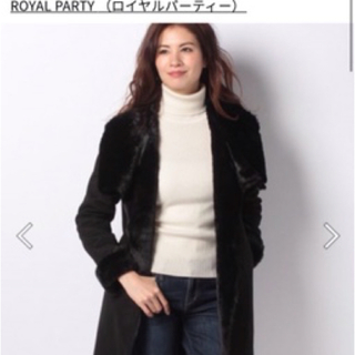 ROYAL PARTY ムートンコート 黒