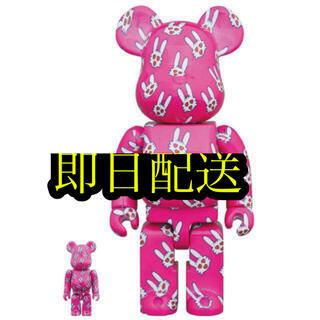 メディコムトイ(MEDICOM TOY)のBE@RBRICK ヒトハタウサギ 100% & 400%(キャラクターグッズ)