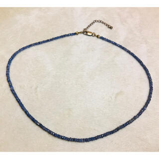 ライオンハート(LION HEART)のライオンハート サファイア ネックレス 40cm(ネックレス)