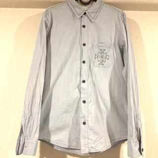 チチカカ 刺繍 デニムシャツ