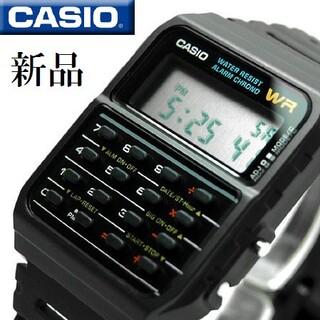 カシオ(CASIO)のカシオ腕時計 カリキュレター 海外モデル ブラック(腕時計(デジタル))