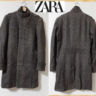 ザラ(ZARA)のZARA MAN ザラ ツイードコート S(ステンカラーコート)