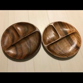 ニトリ(ニトリ)のラウンドランチプレート アカシア2個セット(食器)