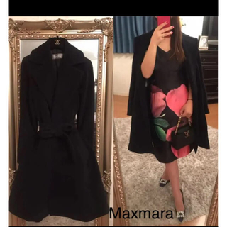 マックスマーラ(Max Mara)の最終価格美品maxmara 高級ガウンコート36ベルト付き(ガウンコート)