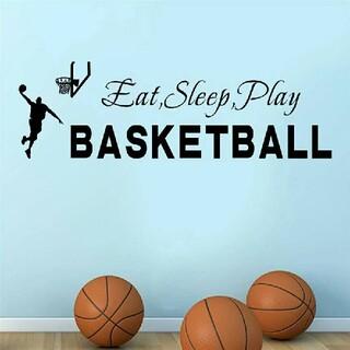 ◎新品超特価◎バスケットボールステッカー✧食べて寝てPlayバスケットボール✧(バスケットボール)
