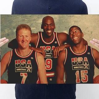 ●新品超特価●大人気NBAポスター◆アメリカドリームチーム♪レジェンドトリオ彡(バスケットボール)