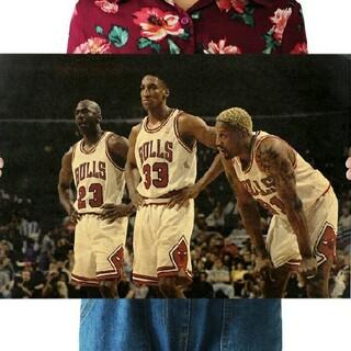 ✶新品超特価✶NBAポスター=シカゴ・ブルズ黄金期✫大人気レジェンド最強トリオ◑(バスケットボール)