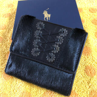 ラルフローレン(Ralph Lauren)のラルフローレン 折り財布 ハラコBL(財布)