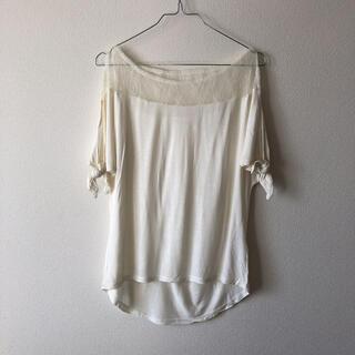 ラグナムーン(LagunaMoon)のラグナムーン 未使用 レース 肩出しTシャツ(Tシャツ(半袖/袖なし))