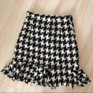 ムルーア(MURUA)の美品 千鳥格子 スカート ❄️(ひざ丈スカート)