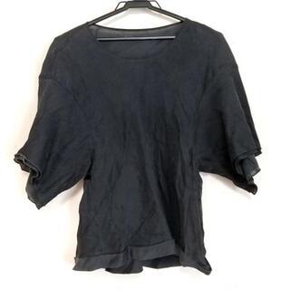 ドゥロワー(Drawer)のドゥロワー 半袖Tシャツ サイズ36 S 黒(Tシャツ(半袖/袖なし))