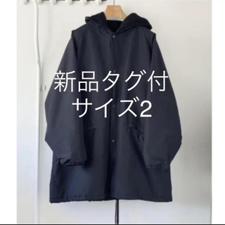 COMOLI - 【新品タグ付き】comoli コットンシルクフーデッドコート サイズ2