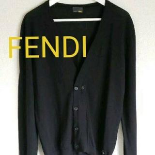 フェンディ(FENDI)のFENDIフェンディカーディガンsize46collarブラック(カーディガン)