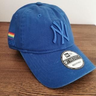 モマ(MOMA)の【新品】 US限定 MOMA x Yankees New Era Cap ブルー(キャップ)