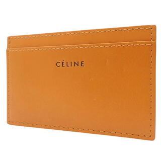 セリーヌ(celine)のセリーヌカードケース カードホルダー カーフ オレンジ橙 40800060250(名刺入れ/定期入れ)
