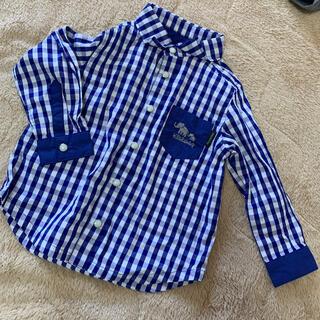 クレードスコープ(kladskap)の☆グレードスコープ ギンガムチェックシャツ 90cm(ブラウス)