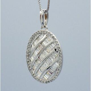 2種カット✨ ダイヤモンド k18wg ホワイトゴールド ペンダント(ネックレス)